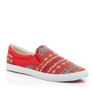 Bucketfeet 'Vermillion' Slip On Sneakers 10 $68