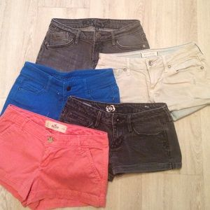 Assorted Pants - Shorts, bundle of 5
