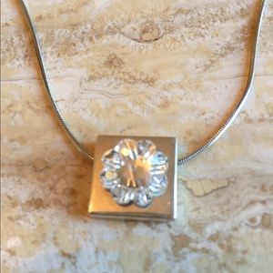 Jewelry - Sterling silver pendant with Swarovski elements