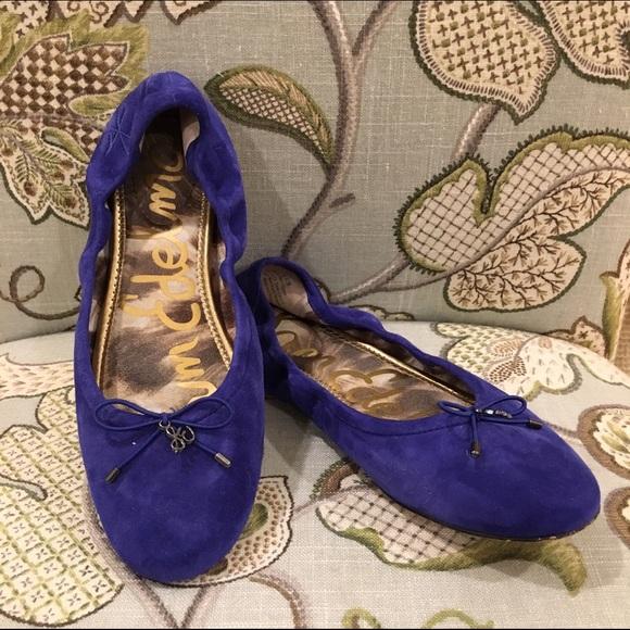 dbb7a5fa15bf09 Sam Edelman Cobalt Blue Suede Felicia Ballet Flat.  M 57ed1b0399086aee380152ec