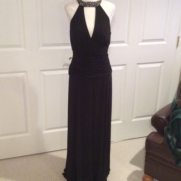 1f6843307b Cachet Dresses | Brand New Gorgeous Halter Dress With Sheared Waste ...