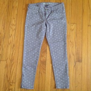 American Eagle Purple Polka Dot Pants Sz 4