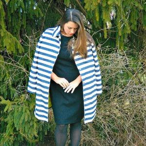 Merona Jackets & Blazers - Nautical Navy and White Striped Coat
