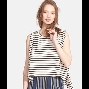 BNWT FREE PEOPLE WE THE FREE STRIPE MUSCLE TOP XS