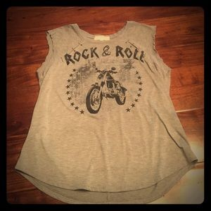 Almost Famous Tops - Almost Famous Tank w/ Safety Pin Embellishment