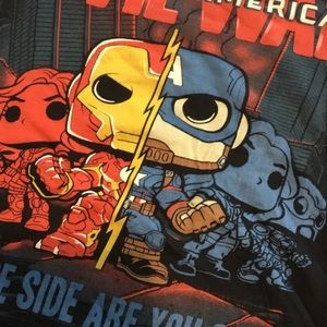 Funko Tops - Funko Pop Captain America Civil War graphic tee