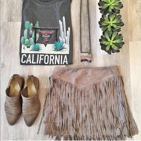 9fc1396f76 Show Me Your MuMu Rancho Fringe Skirt