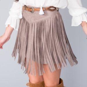 19d29a4947 Show Me Your MuMu Skirts - Show Me Your MuMu Rancho Fringe Skirt