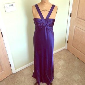 ABS Allen Schwartz Dresses & Skirts - ABS Allan Schwartz luxurious satin gown rich blue