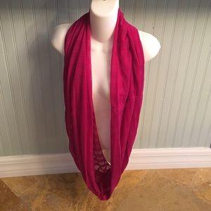 Fuscia infinity scarf