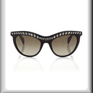 Prada Topaz Cat eye Sunglasses