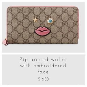 bd58c8d3612802 Gucci Bags | Saleauthentic Wallet W Embroidered Face | Poshmark