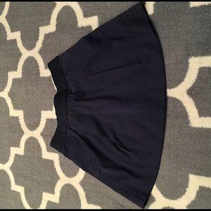 Navy J. Crew Skirt