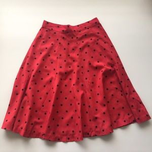 Tangiers Dresses & Skirts - ⚓️ Red and Black Polka Dot Skirt