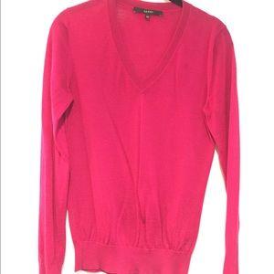 Gucci Cashmere Silk V-Neck Thin Sweater Pullover