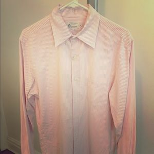 J.Crew Pink and white Oxford size M