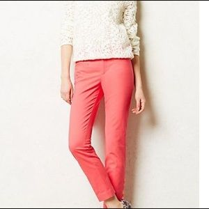 Anthropologie Charlie Ankle trousers Hot pink 0