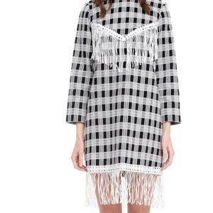 Graphic print midi dress