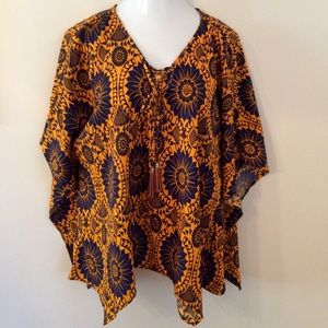 new directions Tops - • sunflower lace up [shark bite] poncho •