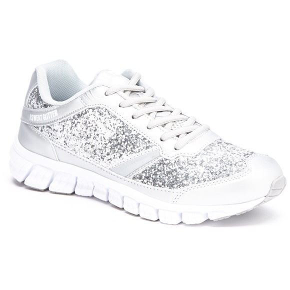 Women s Silver Glitter Athletic Sneaker faf9ea151