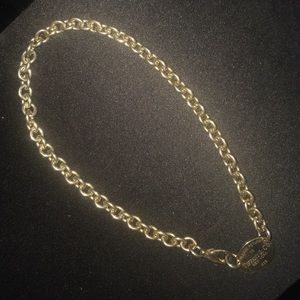 Tiffany & Co. Jewelry - Tiffany & Co. Classic Oval Link Tag choker w/bag