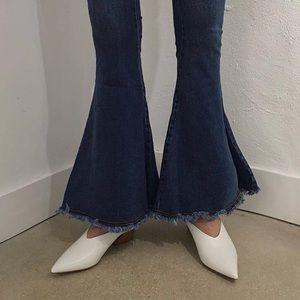 Style Mafia Denim - Mid rise jeans with fray hem