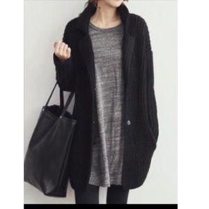 Jackets & Blazers - Black open knit cardigan