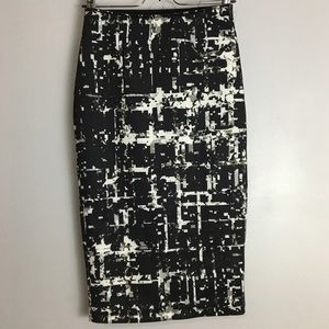 Apt 9 Black & White Patterned Skirt