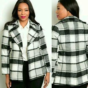 Katia Jackets & Blazers - Plus Size Jacket in Black & White Plaid