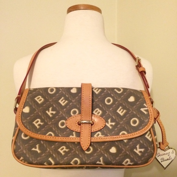 Dooney & Bourke Heart Logo Brown Signature Leather