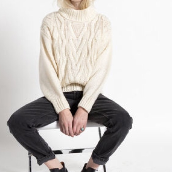 76eab20f198b H&M Sweaters | Hm Cable Knit Oversized Mock Turtleneck Sweater ...