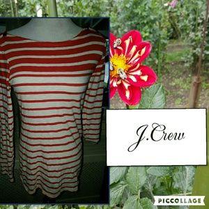 J. Crew striped painter tee L