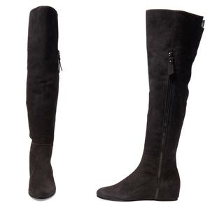 Stuart Weitzman Suede Wedge Over-The-Knee Boots with mastercard sale online newest for sale online Shop new styles cUeARAmY