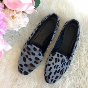 J.Crew Darby Leopard Calf Hair Loafer Flats
