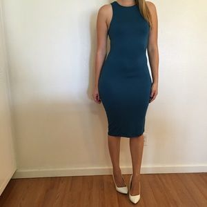 Dresses & Skirts - Teal Sleeveless Midi Dress