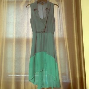 As U Wish Dresses & Skirts - SPRING SALE HighLow Blue Two Toned Dress