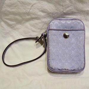 Coach Handbags - Coach Lavender Wristlet