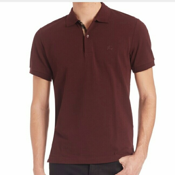 Burberry Other - Burberry Brit Men s Polo Wine Burgundy Maroon be109b4f1