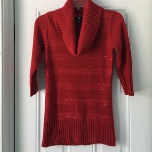 Iz Byer Tops - 🎉HP🎉Sparkly Red Blouse