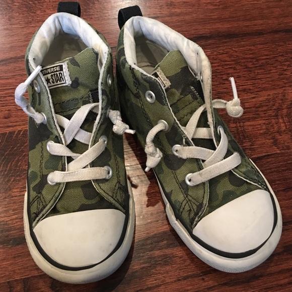 83f21cedef93 Converse Other - • Converse • No tie • Camo • Hightops Toddler Boy