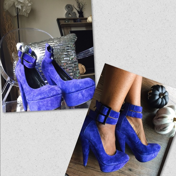 ASOS Shoes - ASOS // Blue platform heels // 6 (New Years /bday)