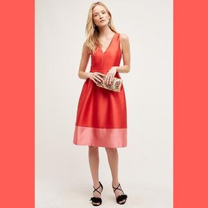  Anthropologie Maeve colorblock dress