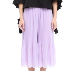 Easy fit pleated cropped pants