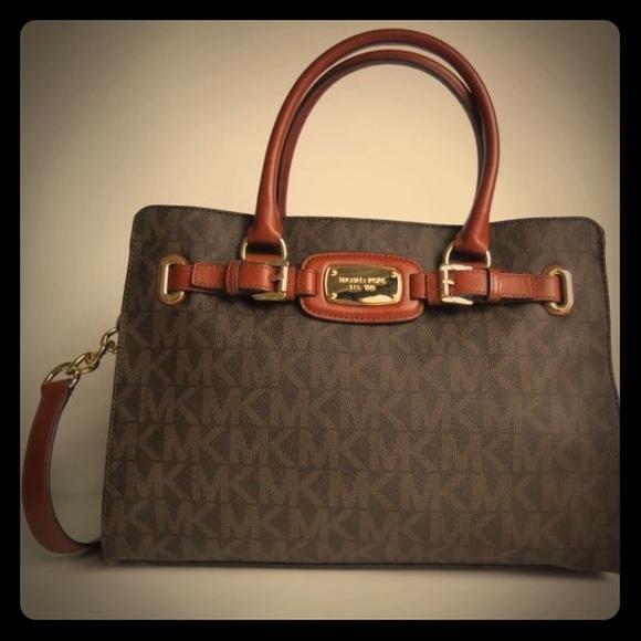 60109994316e4a MICHAEL Michael Kors Bags | Michael Kors Hamilton Large Signature ...