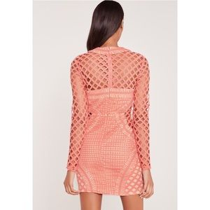 586e102b72d4e Missguided Dresses | Carli Bybel Long Sleeve Lace Bodycon Dress Pink ...