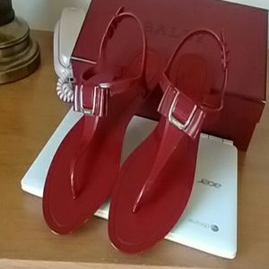 Bally Shoes - JELLY  bally red NWOT (reduced)
