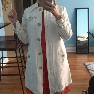 SPRING SALE Banana Republic White Trench Coat