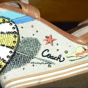 f72275b12 Coach Shoes - COACH beach themed platform shoes