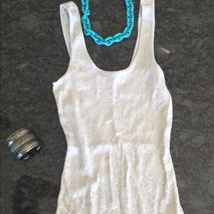 Express - Sequined light gray tank