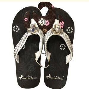 Montana West White Bling Sandals